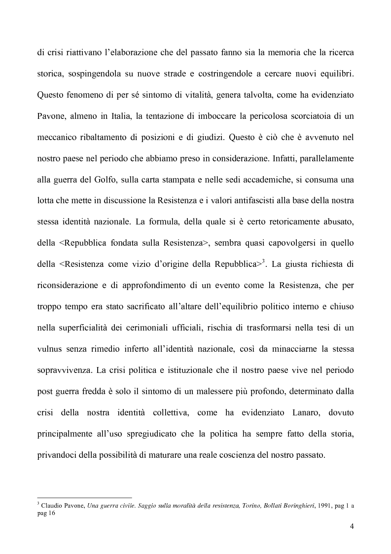 Anteprima della tesi: Un caso di uso pubblico della storia: l'applicazione del paradigma antifascista alla guerra del Golfo del 1991, Pagina 4