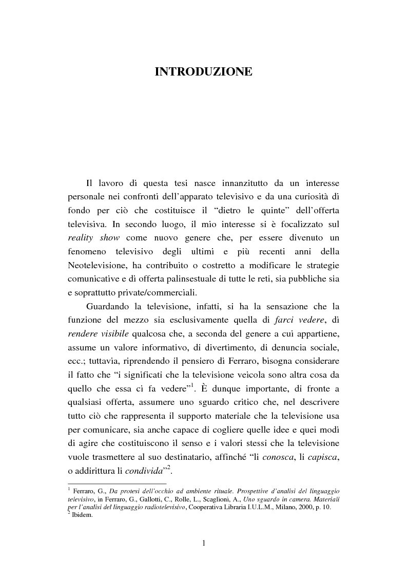 Anteprima della tesi: Changing Rooms. Dal format inglese alla ri- produzione italiana, Pagina 1