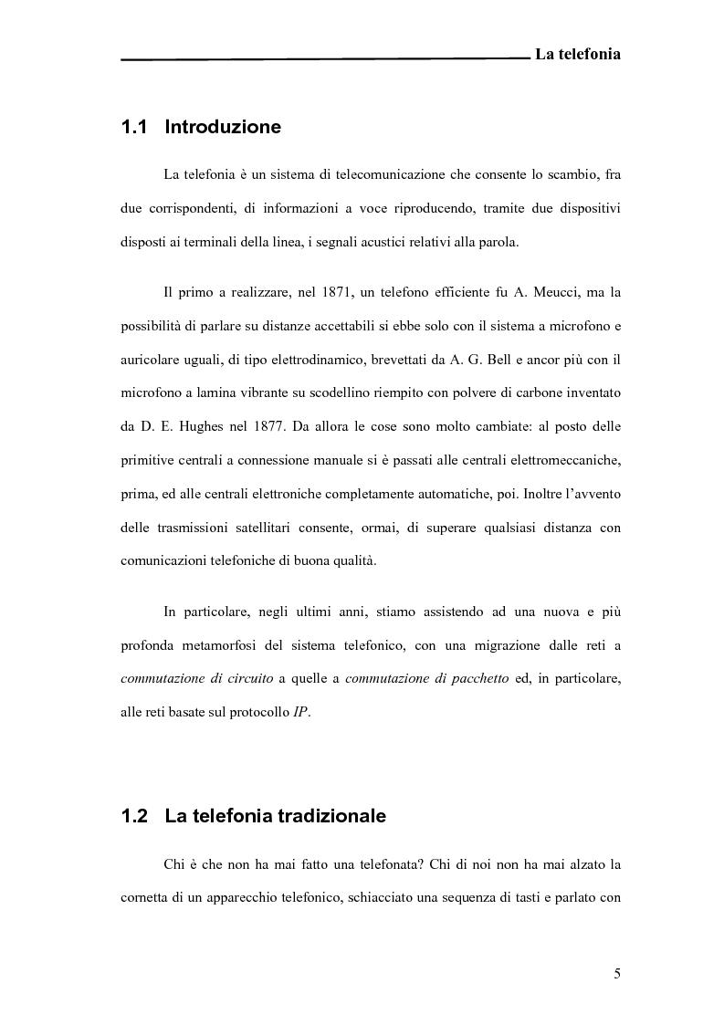 Anteprima della tesi: Analisi e sperimentazione di una piattaforma open-source ibrida VoIP e TDM, Pagina 4