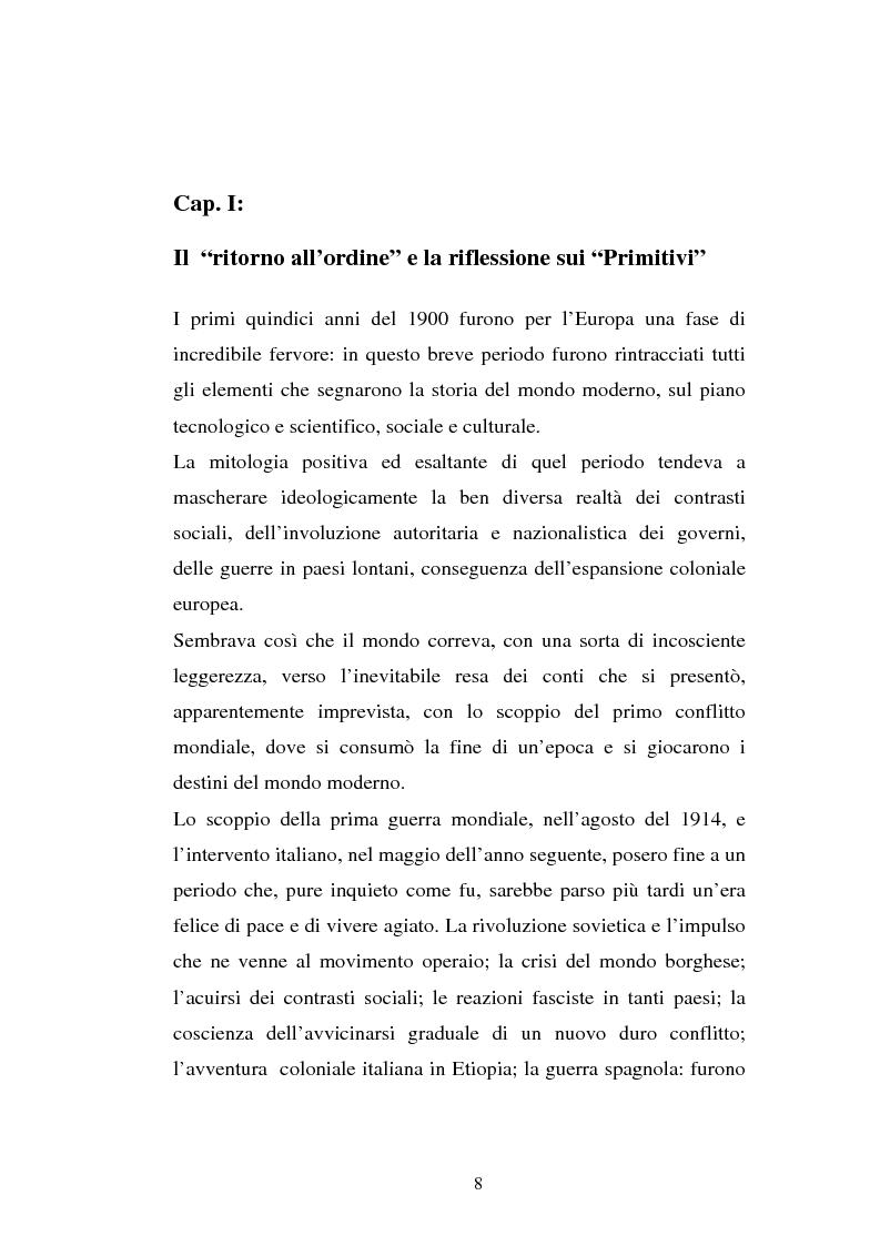 Anteprima della tesi: Carlo Carrà: La riflessione sui ''Primitivi'', Pagina 8