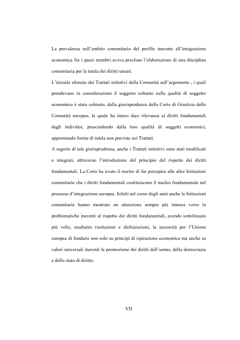 Anteprima della tesi: La tutela giurisdizionale dei diritti fondamentali dell'uomo nell'Unione Europea, Pagina 2