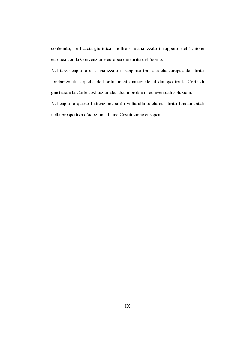 Anteprima della tesi: La tutela giurisdizionale dei diritti fondamentali dell'uomo nell'Unione Europea, Pagina 4