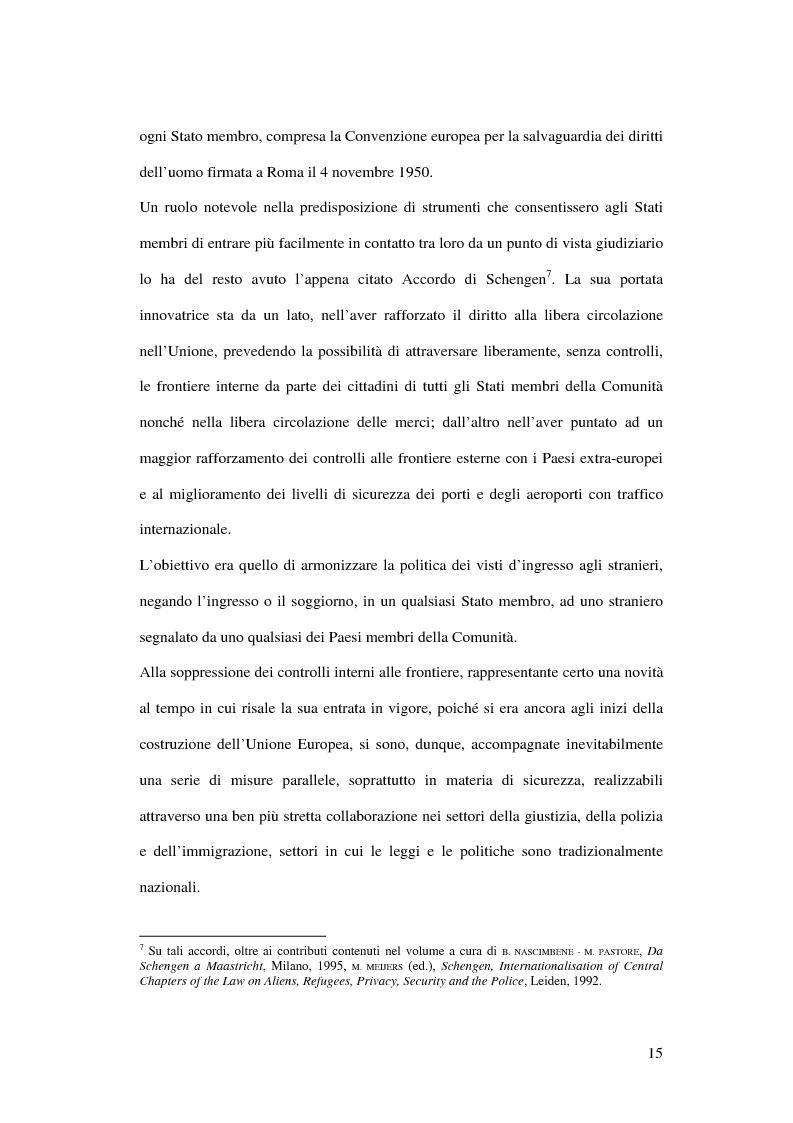 Anteprima della tesi: Il mandato di arresto europeo, Pagina 10
