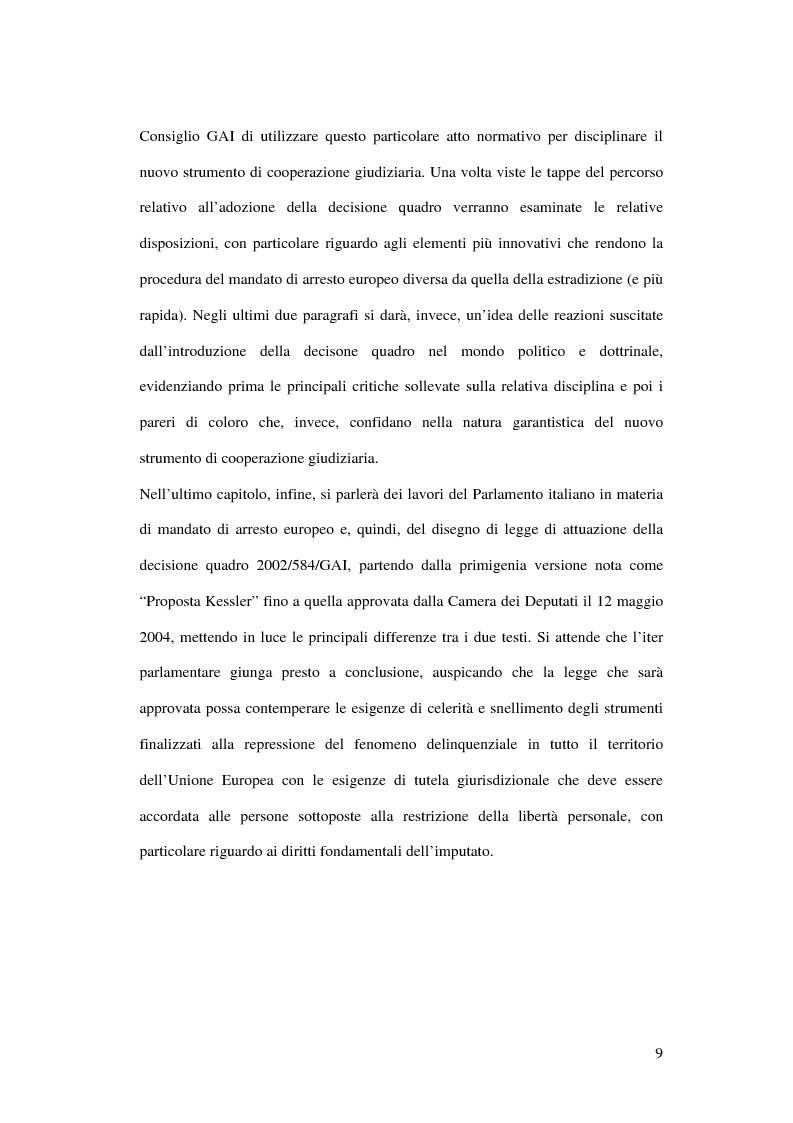 Anteprima della tesi: Il mandato di arresto europeo, Pagina 4