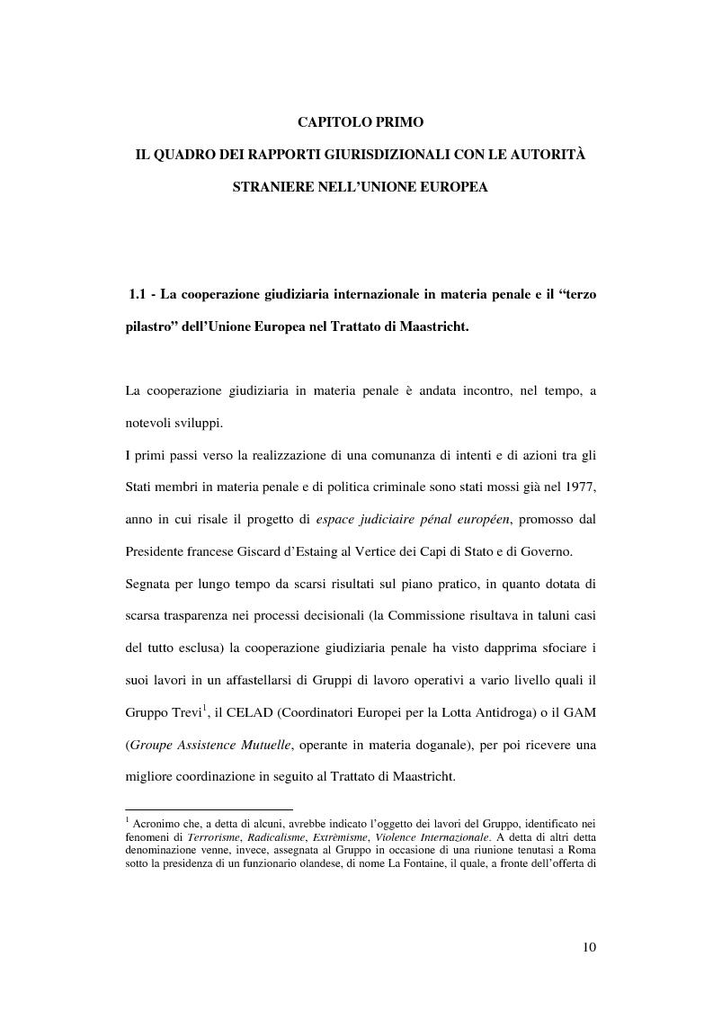 Anteprima della tesi: Il mandato di arresto europeo, Pagina 5