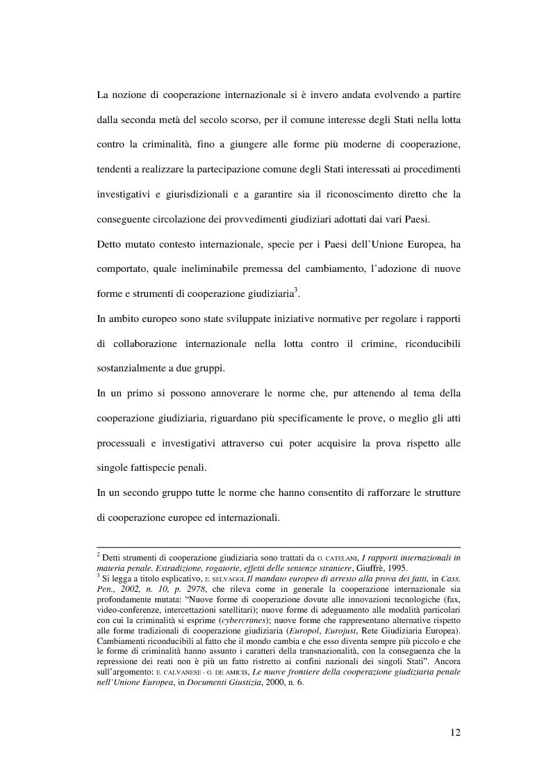 Anteprima della tesi: Il mandato di arresto europeo, Pagina 7