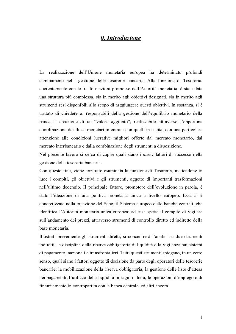 Anteprima della tesi: Modelli matematici per la gestione della liquidità di breve periodo nelle aziende di credito, Pagina 1