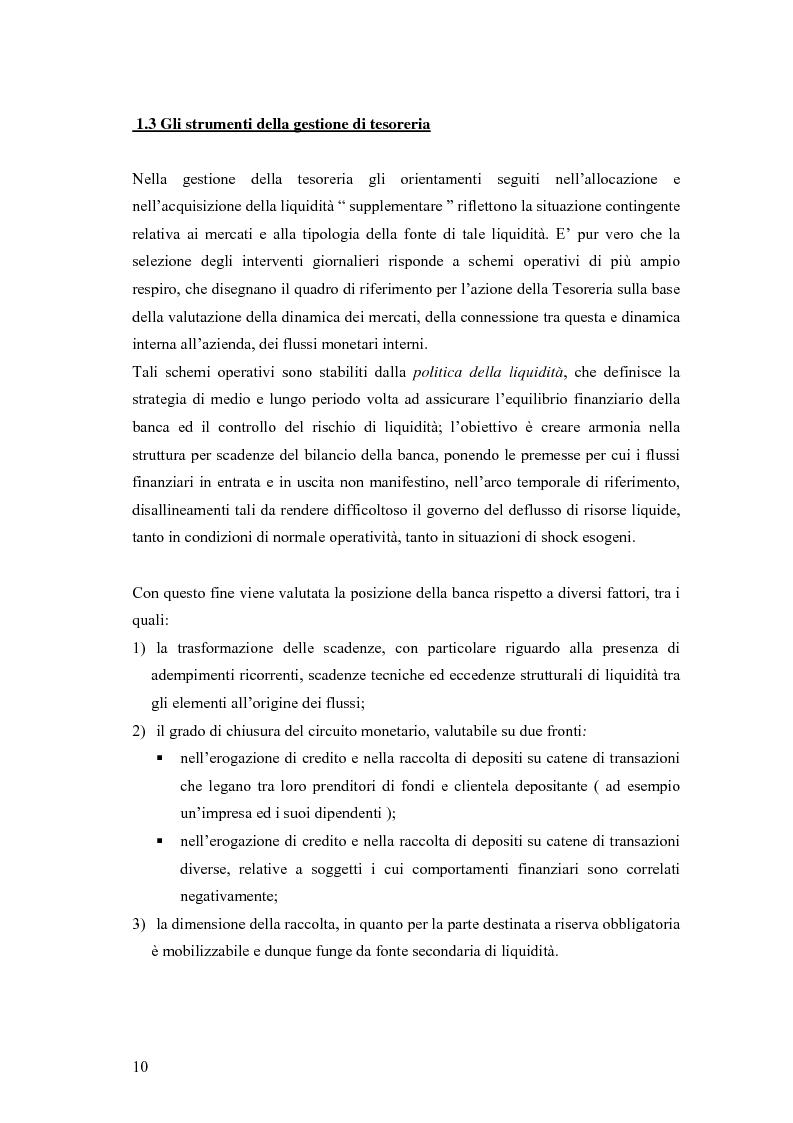 Anteprima della tesi: Modelli matematici per la gestione della liquidità di breve periodo nelle aziende di credito, Pagina 10