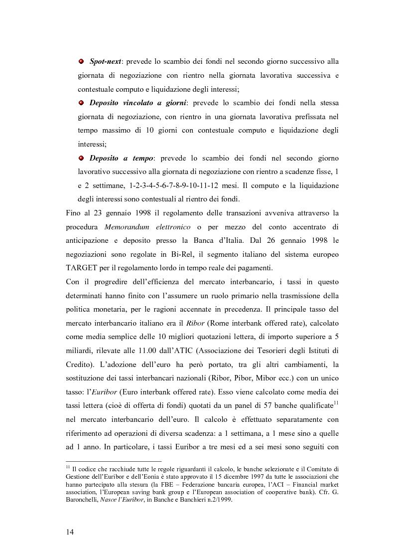 Anteprima della tesi: Modelli matematici per la gestione della liquidità di breve periodo nelle aziende di credito, Pagina 14