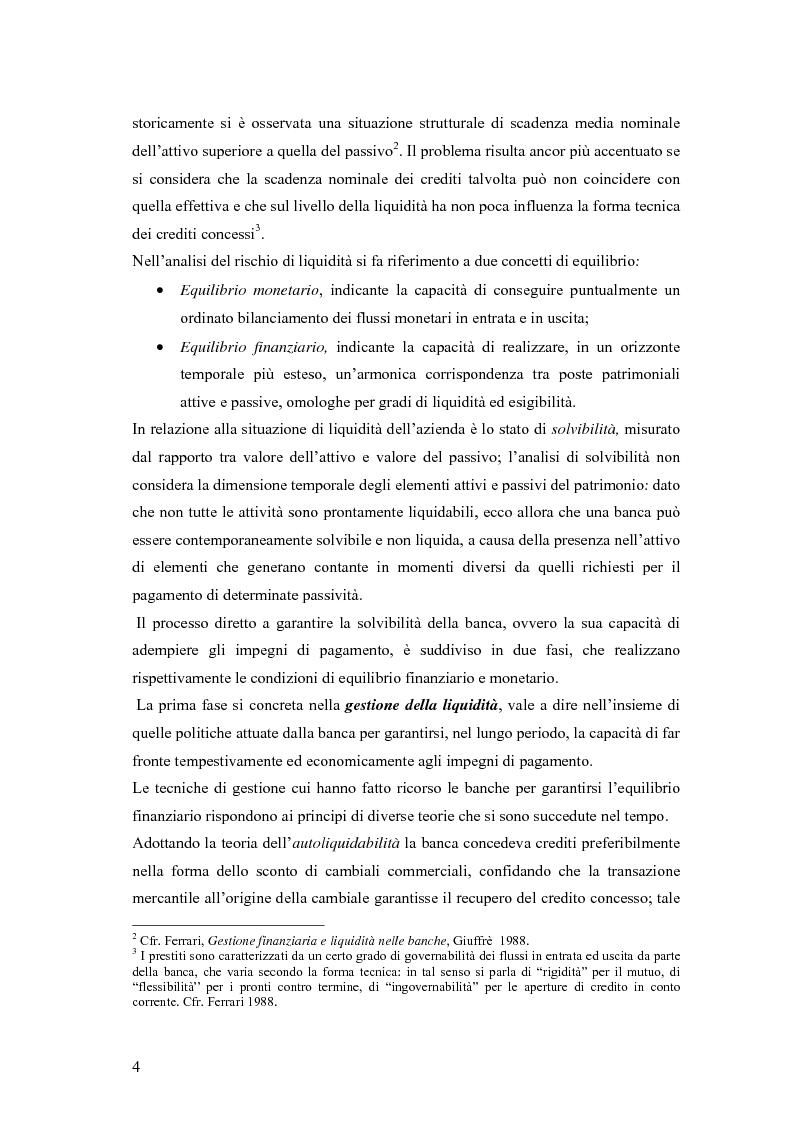 Anteprima della tesi: Modelli matematici per la gestione della liquidità di breve periodo nelle aziende di credito, Pagina 4