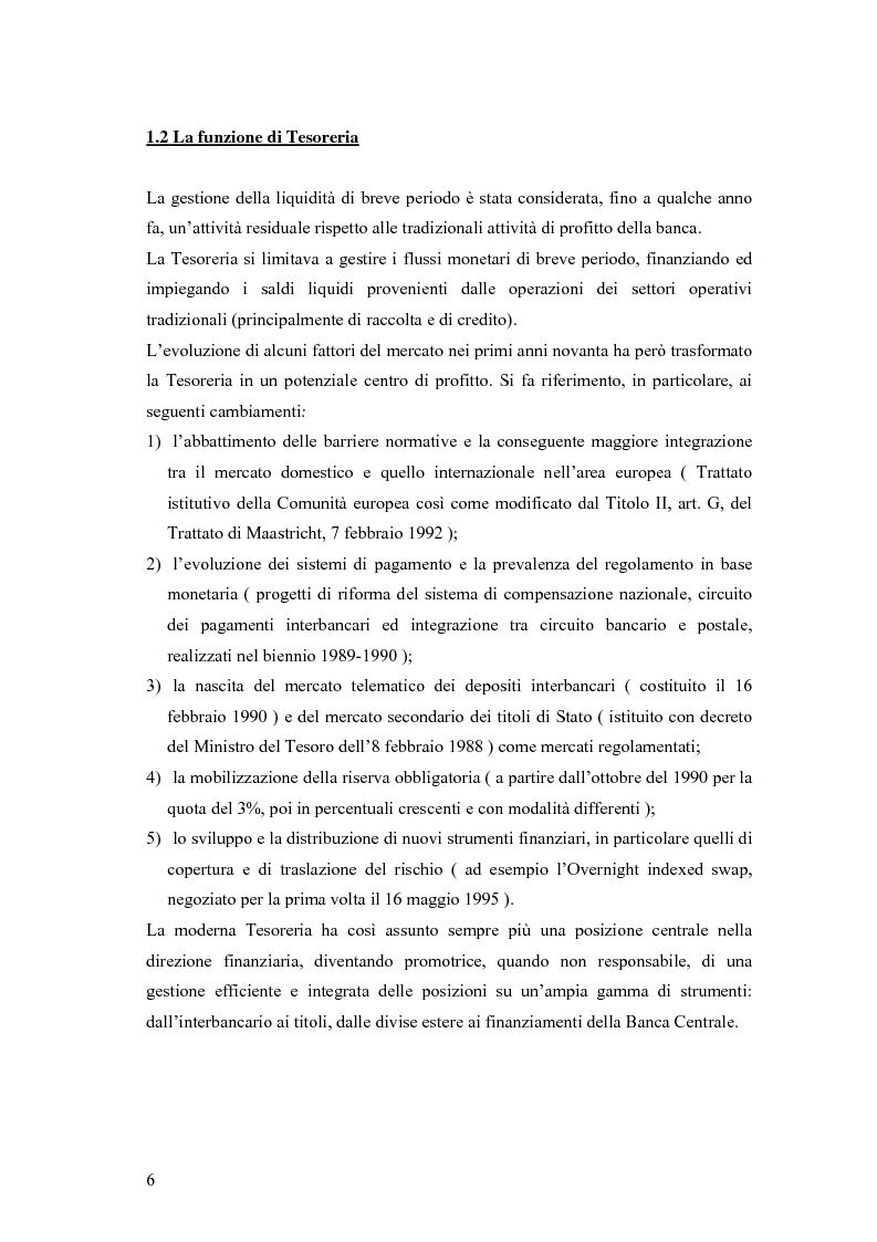 Anteprima della tesi: Modelli matematici per la gestione della liquidità di breve periodo nelle aziende di credito, Pagina 6