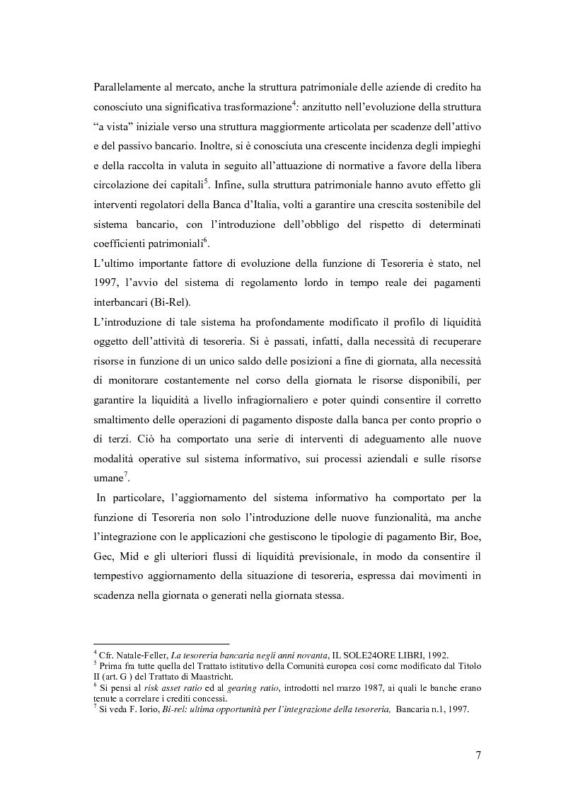 Anteprima della tesi: Modelli matematici per la gestione della liquidità di breve periodo nelle aziende di credito, Pagina 7
