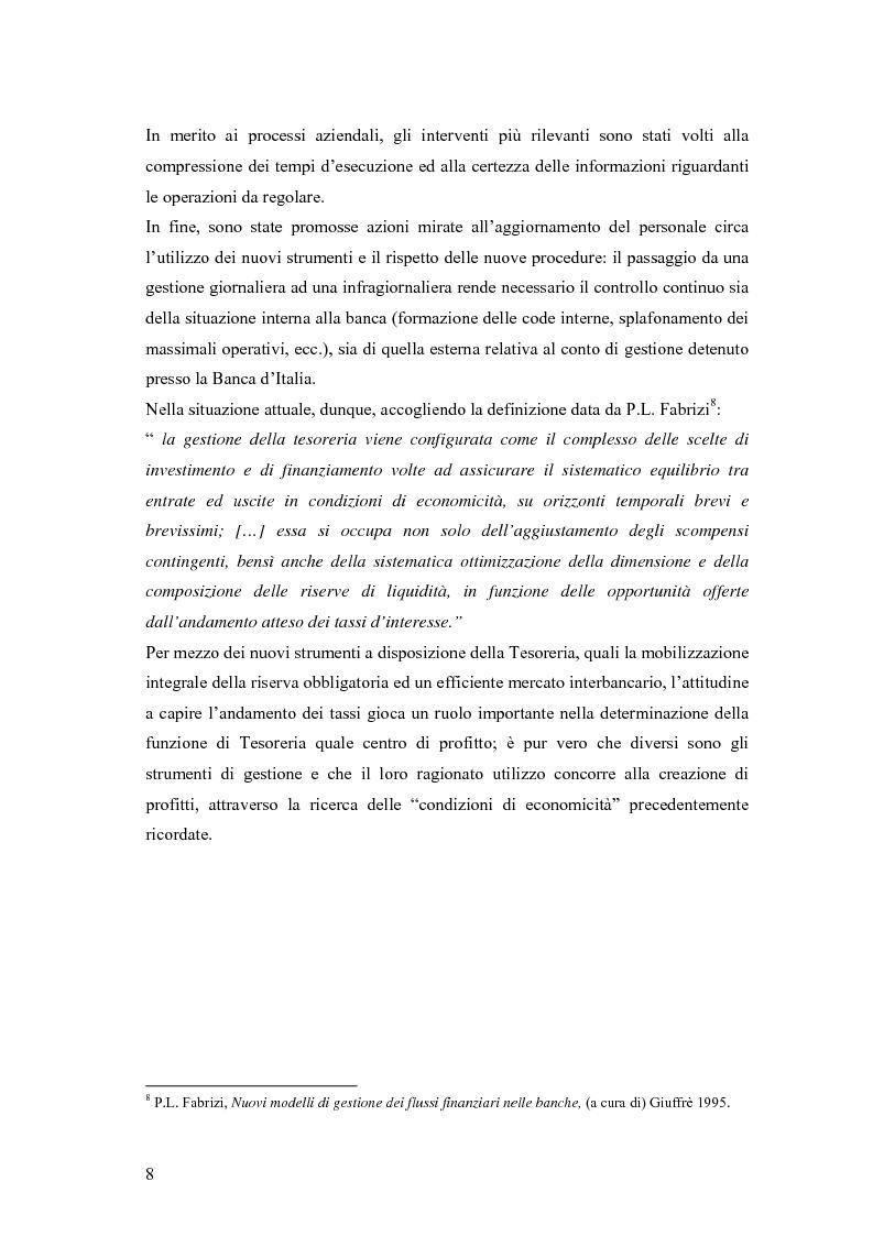 Anteprima della tesi: Modelli matematici per la gestione della liquidità di breve periodo nelle aziende di credito, Pagina 8