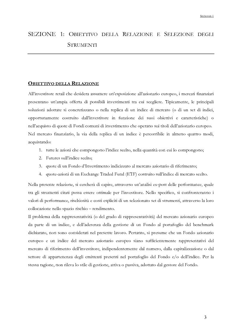 Anteprima della tesi: Strumenti di investimento nel mercato azionario europeo: un confronto tra Fondi di investimento ed ETF, Pagina 1