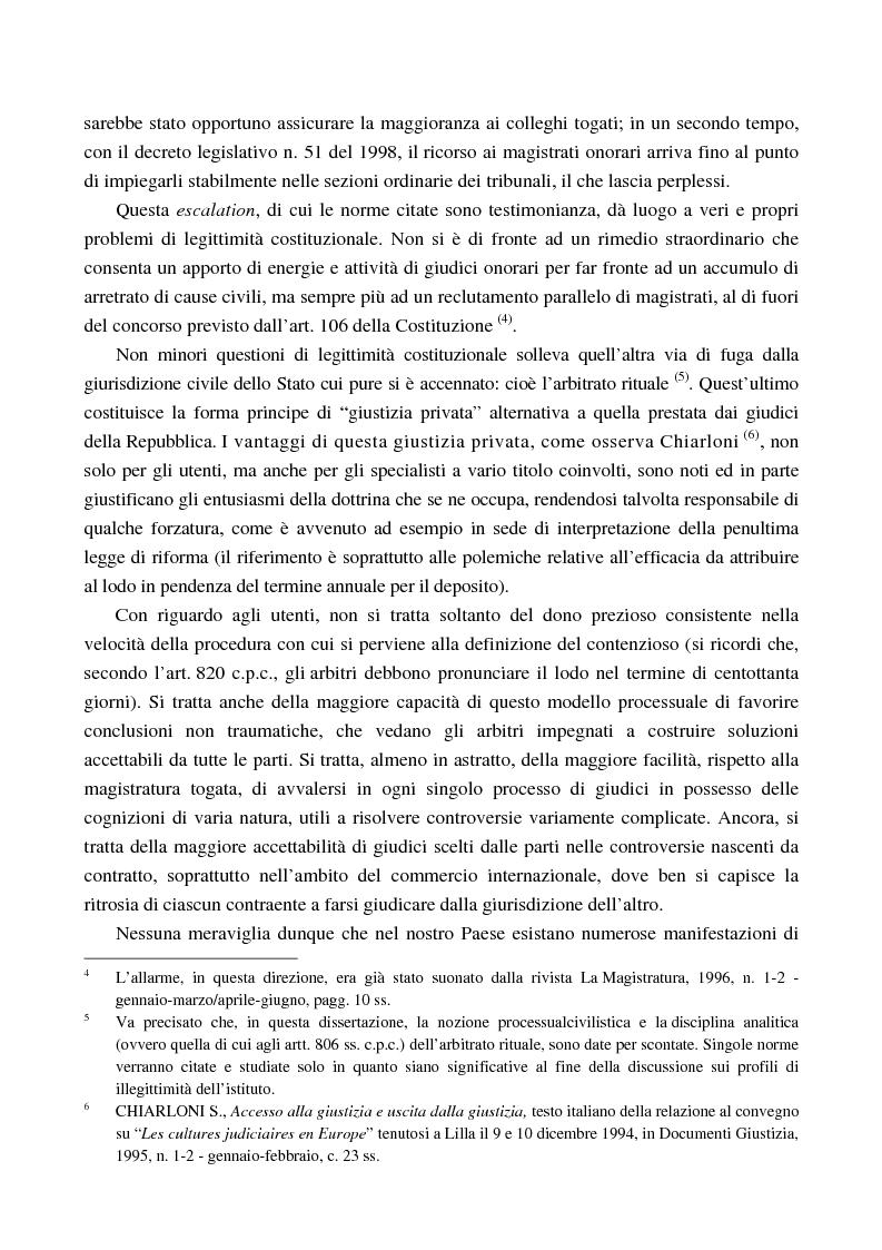 Anteprima della tesi: Arbitrato e funzione giurisdizionale, Pagina 4