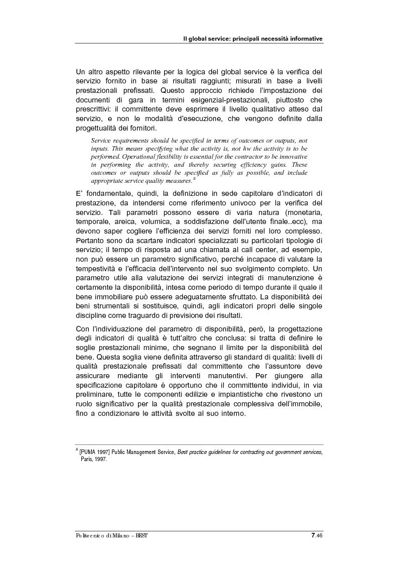 Anteprima della tesi: Sistemi informativi per il Global Service: linee guida per la progettazione, Pagina 4