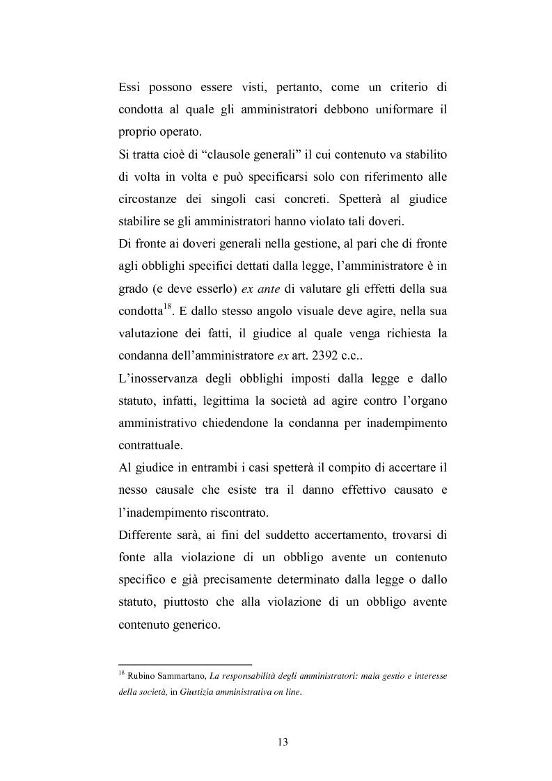 Anteprima della tesi: La responsabilità sociale degli amministratori di s.p.a. per l'attività di gestione, Pagina 11