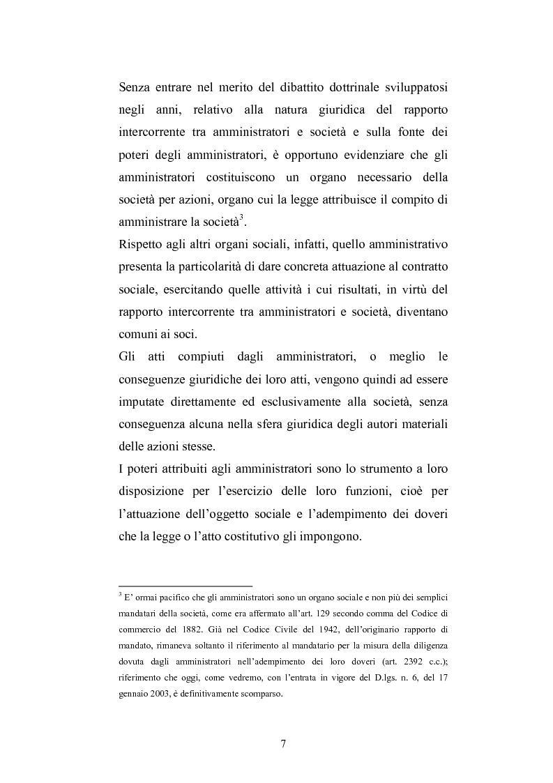Anteprima della tesi: La responsabilità sociale degli amministratori di s.p.a. per l'attività di gestione, Pagina 5