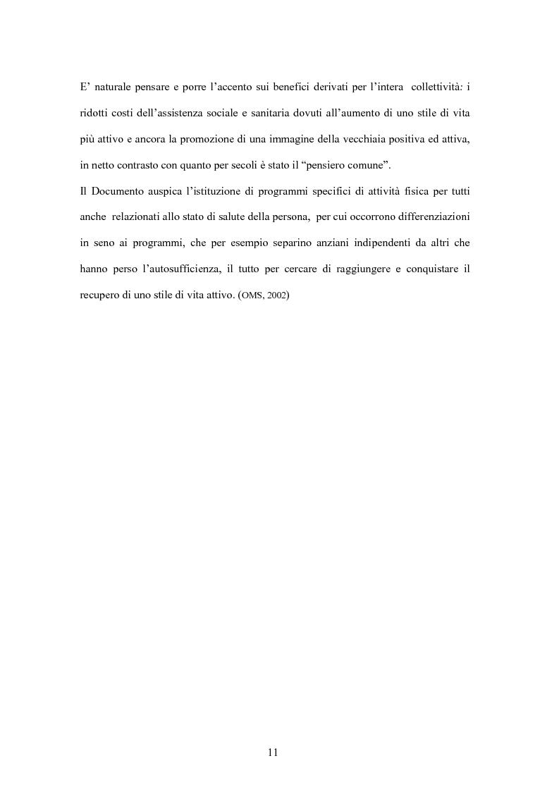 Anteprima della tesi: Attività Motoria Adattata Domiciliare e Stile di Vita Attivo: Esperienza di Tirocinio, Pagina 9