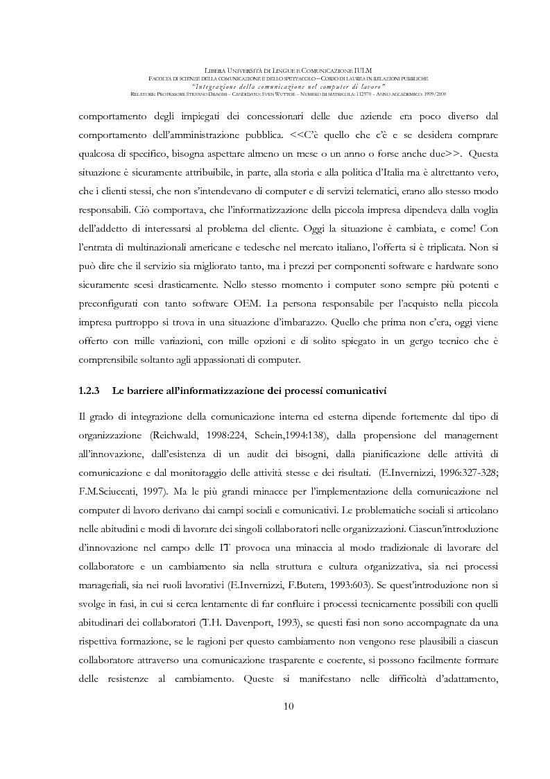 Anteprima della tesi: Integrazione della comunicazione nel computer di lavoro, Pagina 11