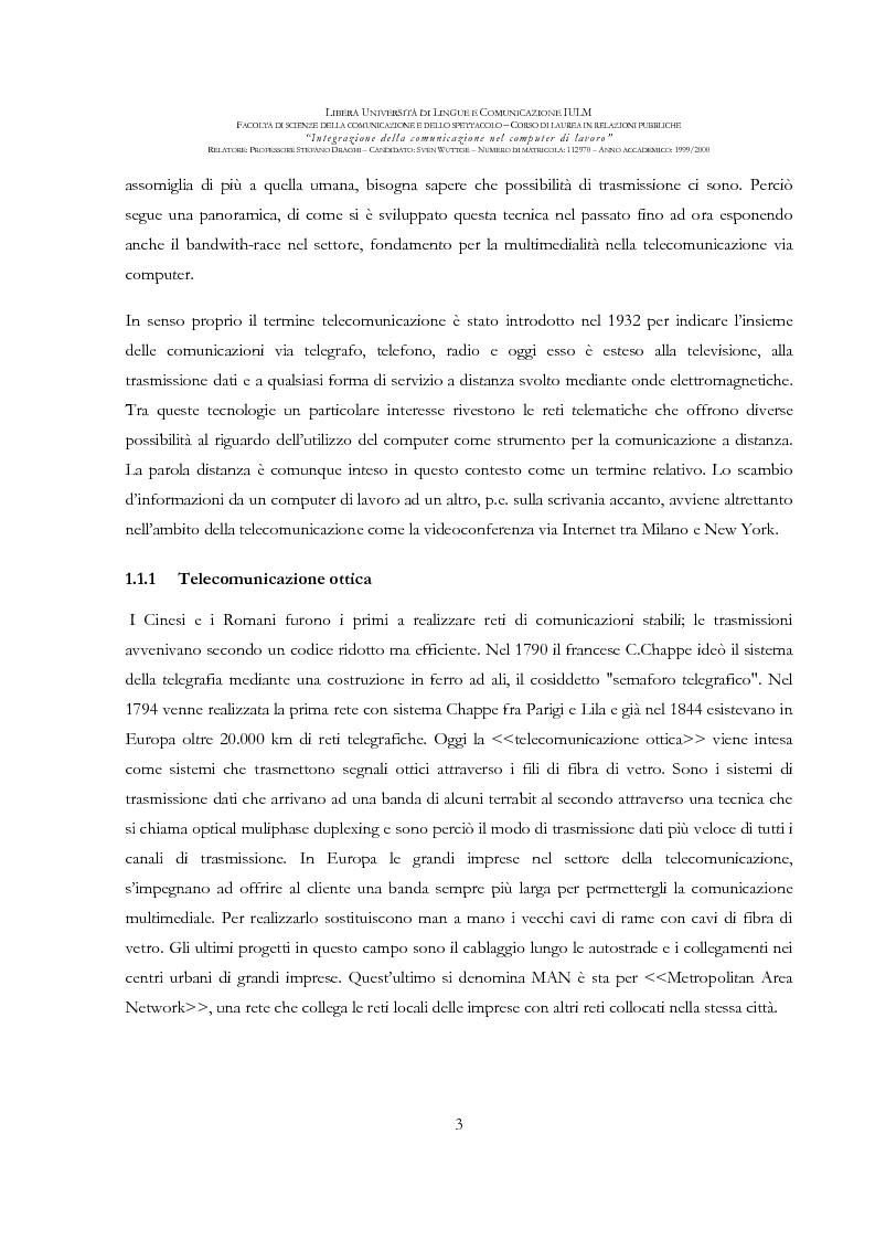 Anteprima della tesi: Integrazione della comunicazione nel computer di lavoro, Pagina 4