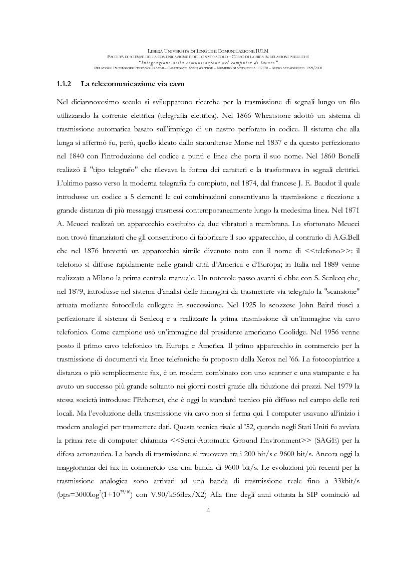 Anteprima della tesi: Integrazione della comunicazione nel computer di lavoro, Pagina 5