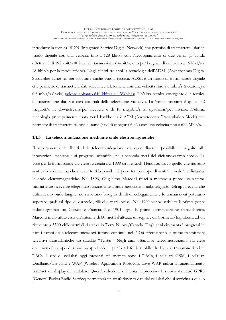 Anteprima della tesi: Integrazione della comunicazione nel computer di lavoro, Pagina 6