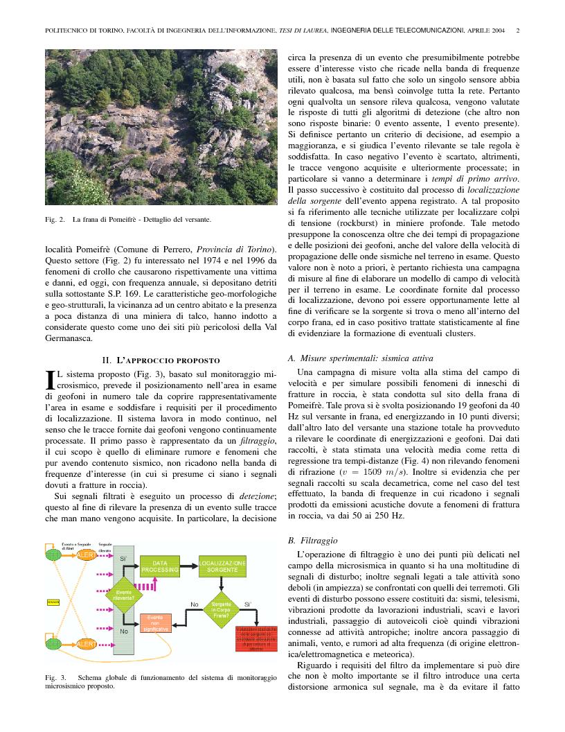 Anteprima della tesi: Identificazione di segnali da un array sismico per il monitoraggio di frane, Pagina 2