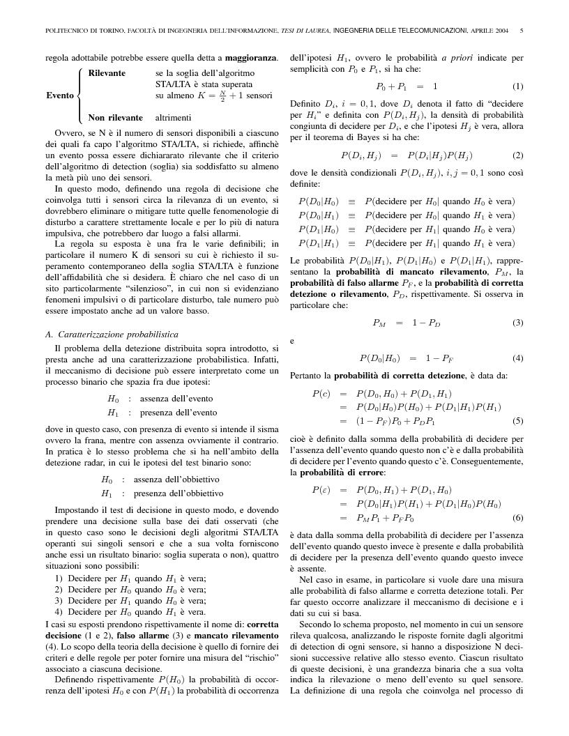Anteprima della tesi: Identificazione di segnali da un array sismico per il monitoraggio di frane, Pagina 5
