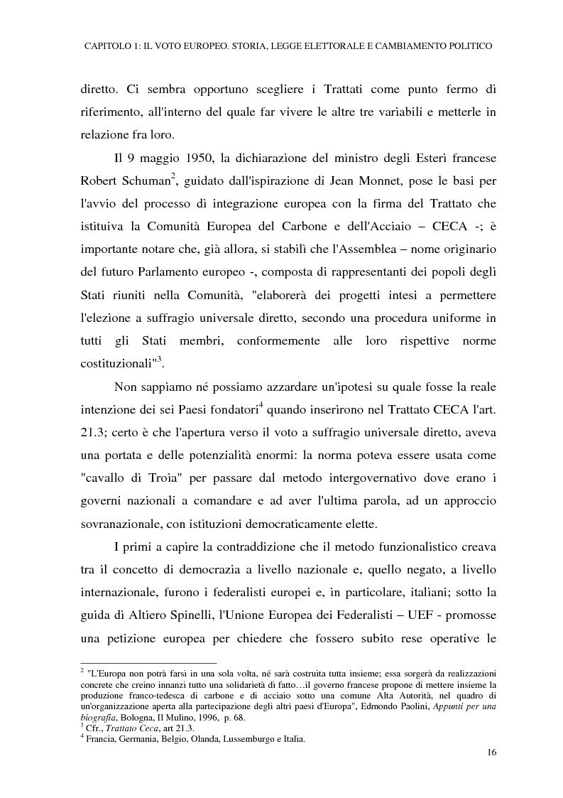 Anteprima della tesi: Le elezioni europee in Italia (1994-1999), Pagina 10