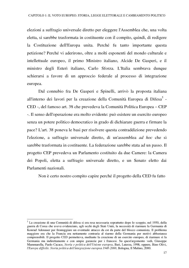 Anteprima della tesi: Le elezioni europee in Italia (1994-1999), Pagina 11