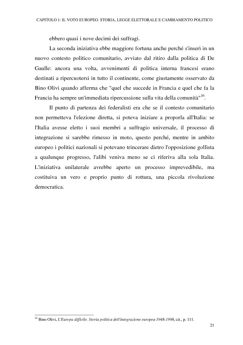 Anteprima della tesi: Le elezioni europee in Italia (1994-1999), Pagina 15