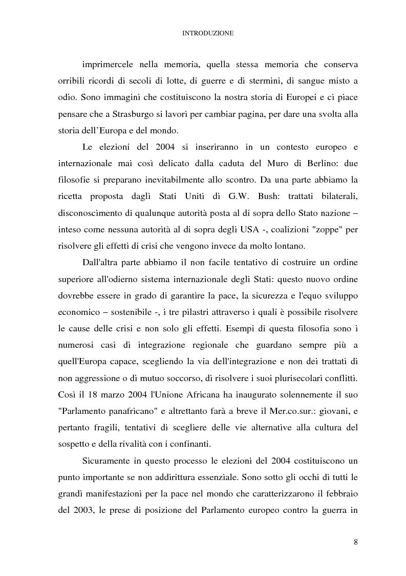 Anteprima della tesi: Le elezioni europee in Italia (1994-1999), Pagina 2