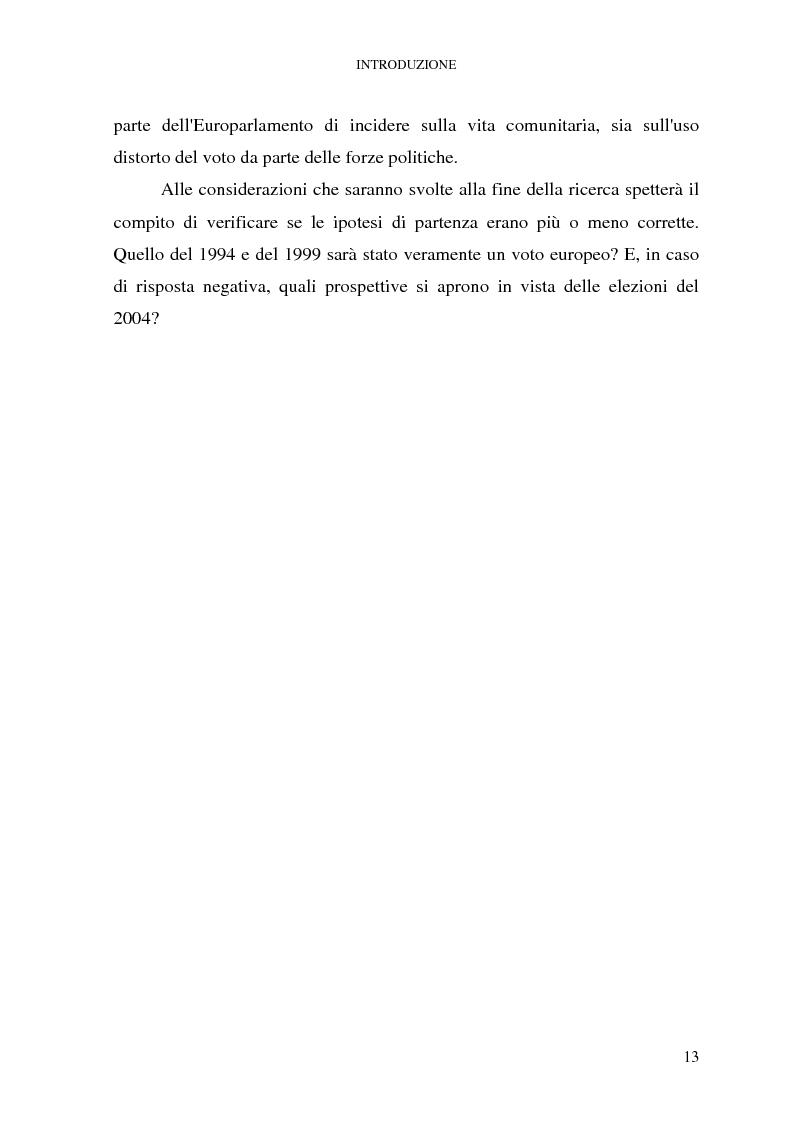 Anteprima della tesi: Le elezioni europee in Italia (1994-1999), Pagina 7