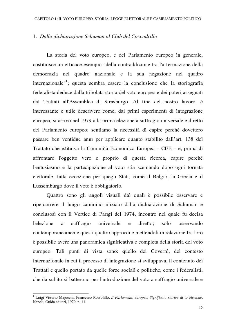 Anteprima della tesi: Le elezioni europee in Italia (1994-1999), Pagina 9