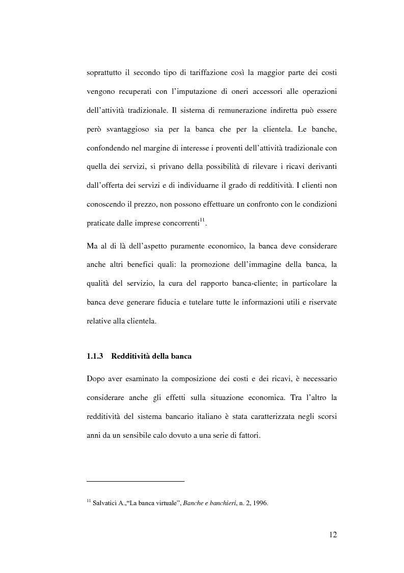 Anteprima della tesi: L'impatto di Internet sul sistema competitivo bancario: nuovi servizi e nuove opportunità, Pagina 12