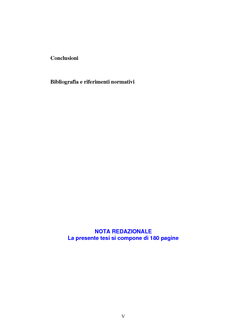 Indice della tesi: La 'gerarchia delle resistenze' nella progettazione antisismica, Pagina 5