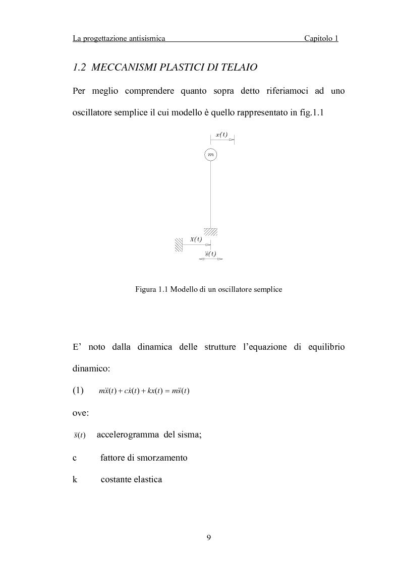 Anteprima della tesi: La 'gerarchia delle resistenze' nella progettazione antisismica, Pagina 9
