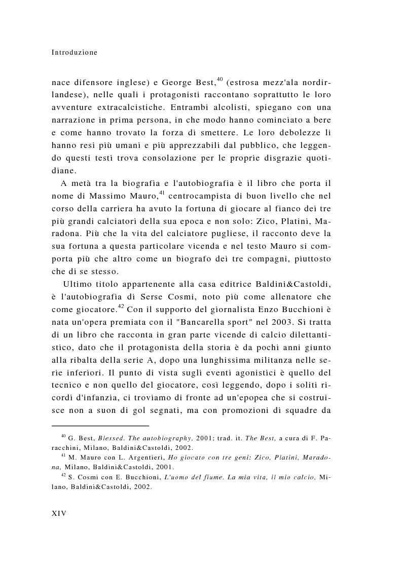 Anteprima della tesi: Eroi sotto dettatura: le autobiografie dei campioni dello sport, Pagina 14