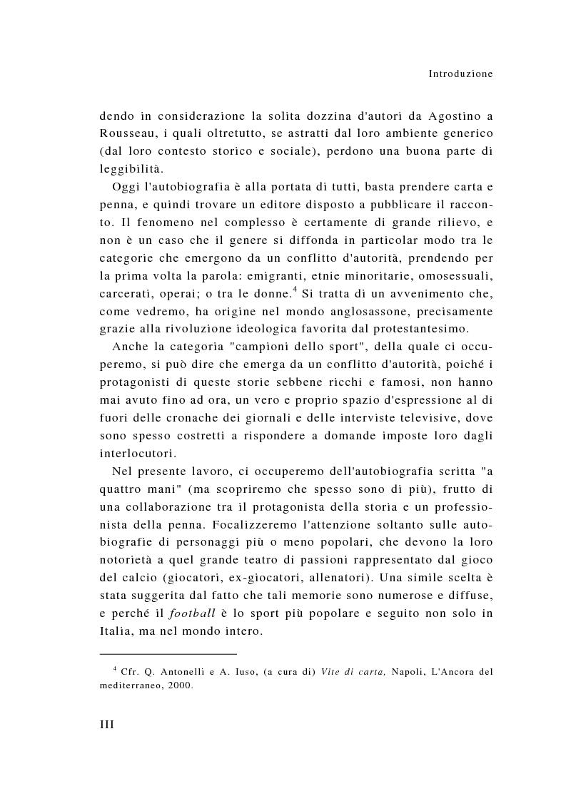 Anteprima della tesi: Eroi sotto dettatura: le autobiografie dei campioni dello sport, Pagina 3