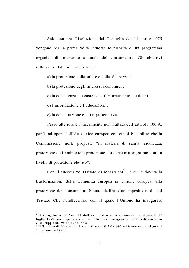 Anteprima della tesi: Contrattazione standard e tutela del consumatore, Pagina 2