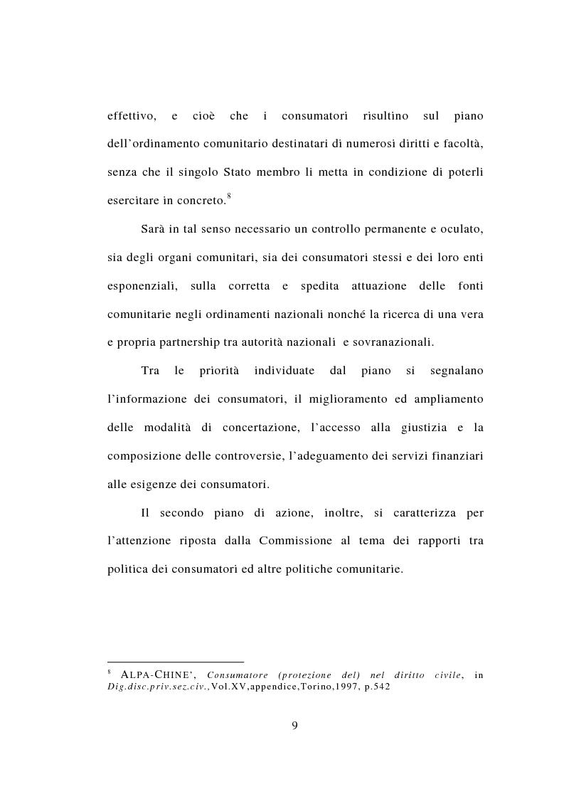 Anteprima della tesi: Contrattazione standard e tutela del consumatore, Pagina 7
