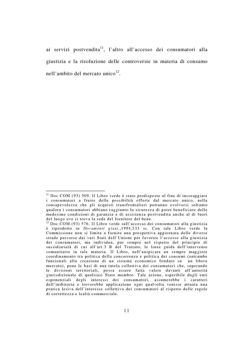 Anteprima della tesi: Contrattazione standard e tutela del consumatore, Pagina 9