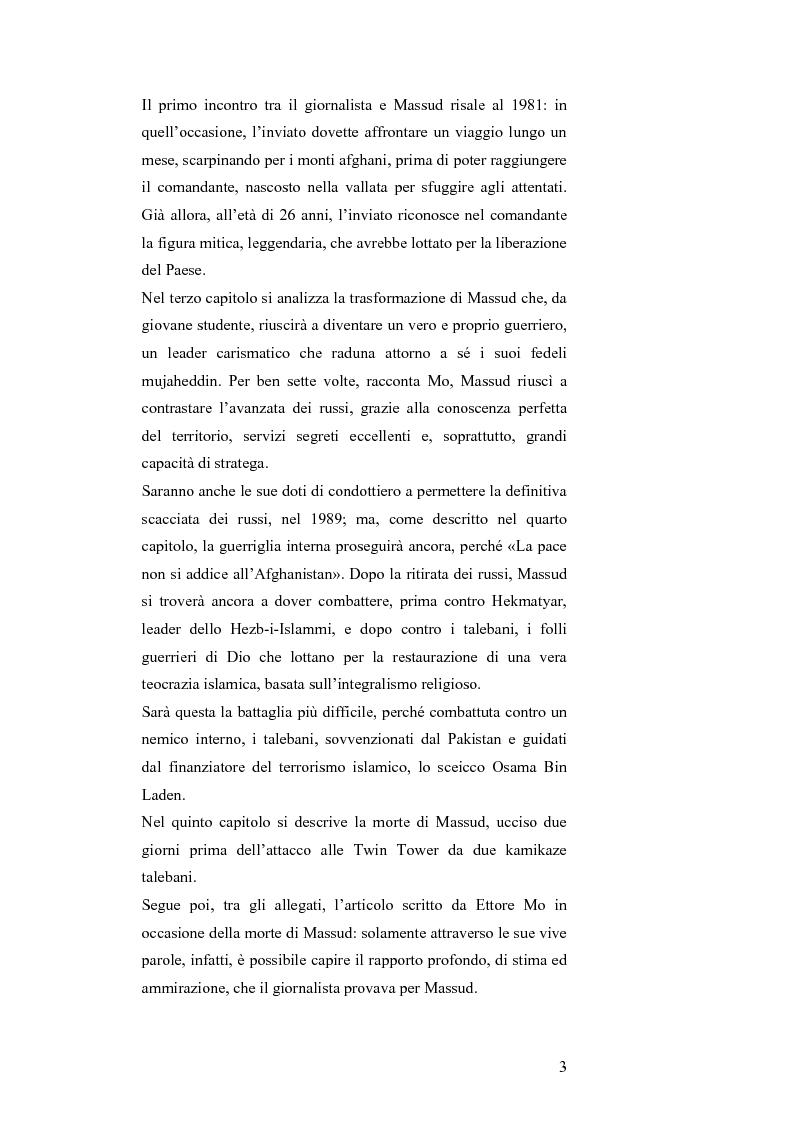 Anteprima della tesi: MASSUD di Ettore Mo. Vita, imprese e morte del ''Leone del Panshir'' Ahmad Shah Massud nelle corrispondenze dell'inviato del ''Corriere della sera'' Ettore Mo, Pagina 2