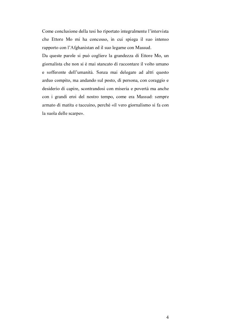 Anteprima della tesi: MASSUD di Ettore Mo. Vita, imprese e morte del ''Leone del Panshir'' Ahmad Shah Massud nelle corrispondenze dell'inviato del ''Corriere della sera'' Ettore Mo, Pagina 3