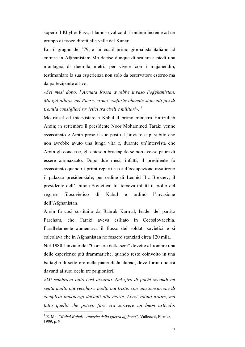 Anteprima della tesi: MASSUD di Ettore Mo. Vita, imprese e morte del ''Leone del Panshir'' Ahmad Shah Massud nelle corrispondenze dell'inviato del ''Corriere della sera'' Ettore Mo, Pagina 6