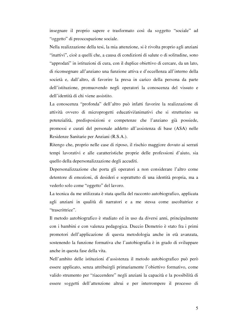 Anteprima della tesi: Identità e narrazione nell'anziano, Pagina 2