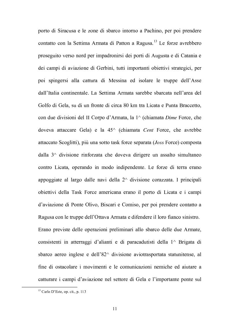 Anteprima della tesi: Gli americani a Licata. Dall'amministrazione militare alla ricostruzione democratica. 1943-1946, Pagina 11