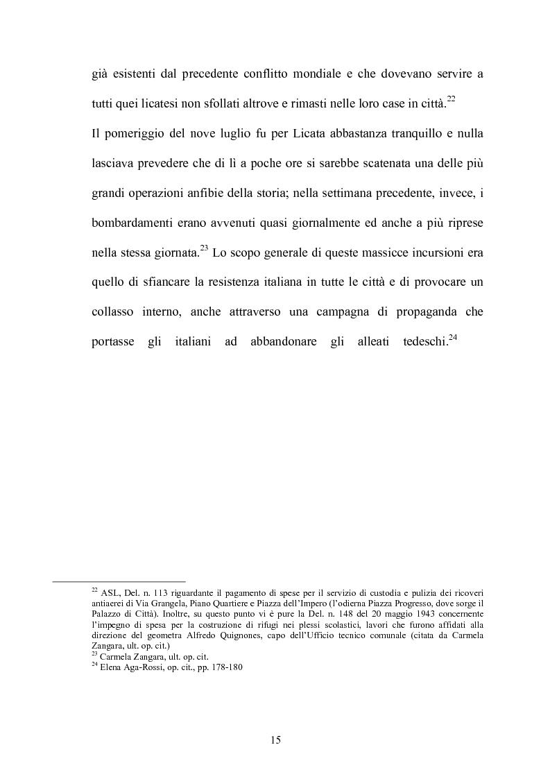 Anteprima della tesi: Gli americani a Licata. Dall'amministrazione militare alla ricostruzione democratica. 1943-1946, Pagina 15