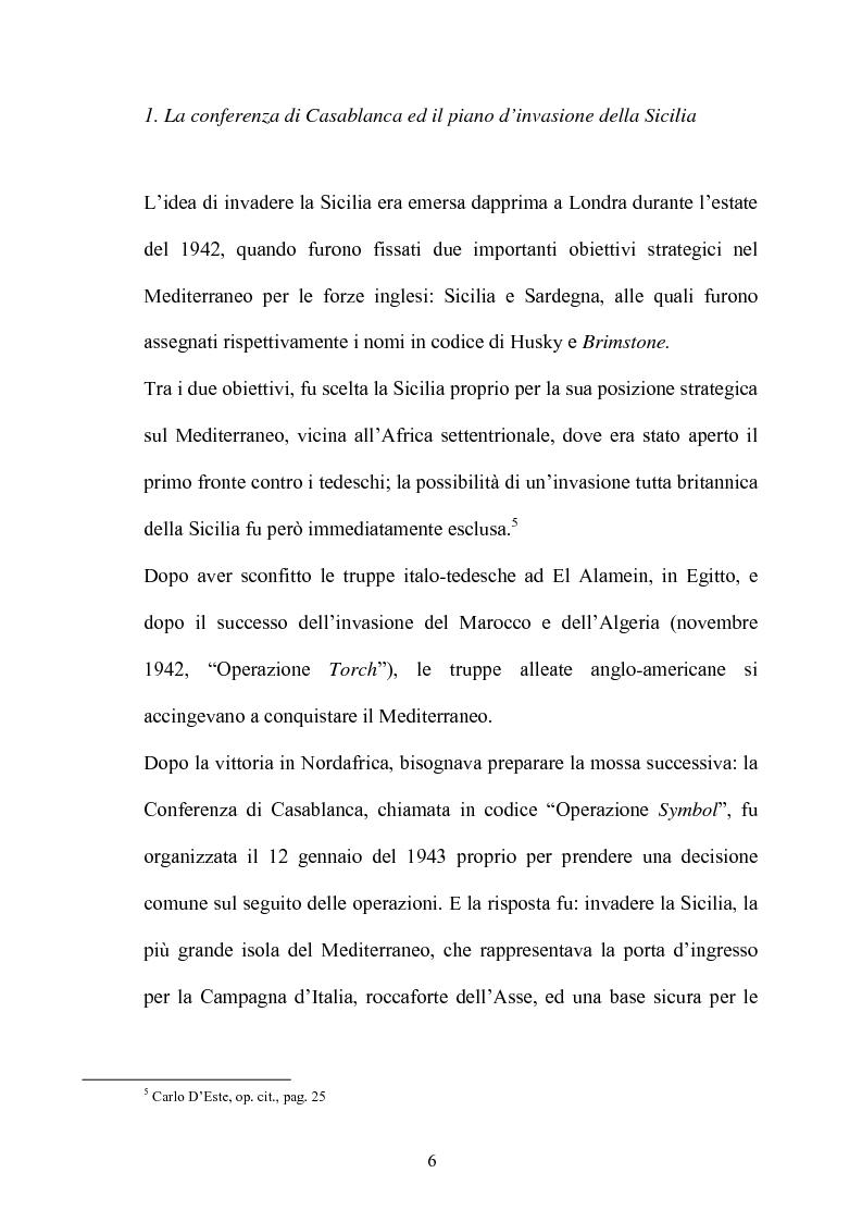 Anteprima della tesi: Gli americani a Licata. Dall'amministrazione militare alla ricostruzione democratica. 1943-1946, Pagina 6